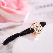 Gold bead hair ring hair accessories Korean hair rope head headdress children rubber band supply small gifts