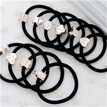 Korean version of the black base gold beads Mickey hair band rubber band E-commerce gift head rope hair rope head jewelry wholesale