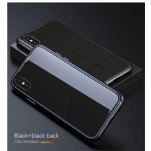 Magnetic Adsorption metal Case iPhone XS 7 8 Plus MAX XR Black, iphone x