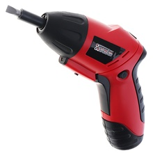 Household 4.8V rechargeable electric screwdriver hardware tool mini-drill set Red