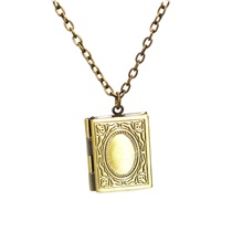 Men's Women's Lockets Necklace Classic Box Classic Vintage Copper Ancient Bronze 50 cm Necklace Jewelry 1pc For Daily Street Ancient Bronze,1 pc