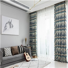 Customized Modern Minimalist Polyester-cotton Printed Fabric Curtain Fabric Living Room Bedroom Curtain Curtain,Pencil Pleat,78W×85'L