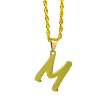 Men's Women's Silver Gold Charm Necklace Bead Necklace Classic Alphabet Shape Basic Stainless Steel Gold Silver 50 cm Necklace Jewelry 1pc For Club Gold,20'