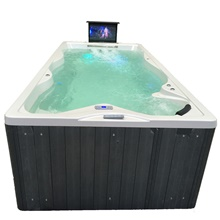 Outdoor spa tub whirlpool Massage bathtubs 4 people Freestanding Jacuzzi