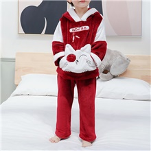 2pcs Baby Boys' Cat Patchwork Animal Pattern / Patchwork / Embroidery Sleepwear Wine Wine,9-12 Months(80cm)