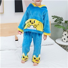 2pcs Baby Boys' Tiger Patchwork Animal Pattern / Patchwork / Embroidery Sleepwear Blue Blue,9-12 Months(80cm)