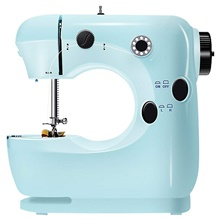Electric Multi-functional Sewing Machine 2 Speed Adjustment Foot Pedal Sewing Machine For Beginner EU Adapter,Blue