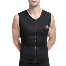 Men's Diving Rash Guard Swimwear Top Breathable Quick Dry Sleeveless Swimming Water Sports Solid Colored Autumn / Fall Spring Summer / Winter / High Elasticity Black,S