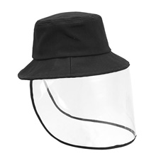 Anti Fog Protective Full Face Mask Droplets Protective Cap Removable unisex Hat Black