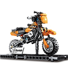Building Blocks 209 pcs Moto compatible Legoing Simulation Motorcycle All Toy Gift / Kid's Orange