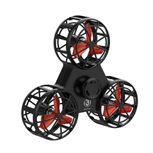 BoniToys F1 Flying Spinning Mini Hand Flying Toy Autism Anxiety Stress Release Toy Gift Finger Spinner Rotary Toy Hand Child Christmas Gift Black