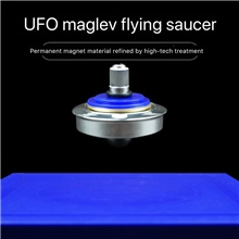 Hand Spinner Physical Magnetic Spinning Top Flying Levitation Suspended Gyro Magic UFO Floating Gyroscope Levitating Saucer Toys Blue