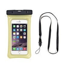 Pouch Bag for Waterproof Zipper 18*10.5 inch PVC(PolyVinyl Chloride) 10 m Light Yellow