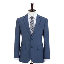 Steel Blue Plaid Wool Custom Suit Pants ( US $10) ,XXS,Default Style(as seen on the photo),Standard style