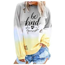 Women's Casual Sweatshirt - Letter Yellow S Yellow,M