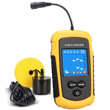 Fish Finder 1 pcs 39.9796 mm LCD 100 m Sensor High Resolution G-Sensor AAA Battery Freshwater Fishing None,Yellow