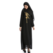 Traditional & Cultural Wear Abaya Women's Daily Wear Chiffon Embroidery / Pattern / Print Abaya