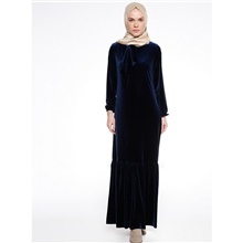 Traditional & Cultural Wear Abaya Women's Daily Wear Polyester Ruffles / Split Joint Abaya