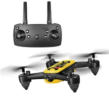 RC Drone SHR / C H7 GPS 4K RTF 4CH 6 Axis 2.4G 4K 4096*2160P RC Quadcopter Auto-Takeoff / Headless Mode / Access Real-Time Footage RC Quadcopter / Remote Controller / Transmmitter / 1 USB Cable Lead Mode 2 (Left Throttle Hand),4K Camera,With Remote Controller,Yellow