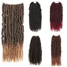 "Laflare Ombre Hair Weaves / Hair Bulk Extension Curly Braids Curly Synthetic Hair 14"" Hair Extension Bulk Hair Hair weave Drawstring 1 Piece Extention Best Quality New Women's Christmas Halloween"