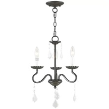 QINGMING® 3-Light 36 cm Mini Style Chandelier Metal Mini Painted Finishes Traditional / Classic / Country 110-120V / 220-240V 110-120V