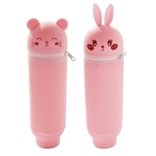 Pencil Cases Silicone Gel 1 pcs Creative Kid's Pink