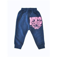 Baby Girls' Active / Basic Geometric / Print Print Pants Navy Blue