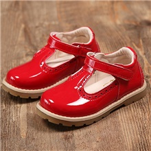 Girls' Comfort Leather Oxfords Little Kids(4-7ys) Black / Red / Pink Summer Red,US5.5 / EU21 / UK4.5 Toddle