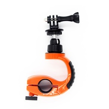 Clamp with Cup Stand Clip-On Easy to Install For Action Camera Multisport Motorcycle Motobike / Motorcycle ABS Resin Black / Orange