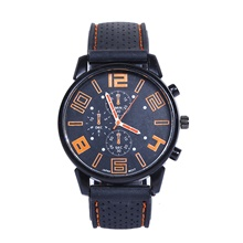 Men's Dress Watch Quartz Leather Black 30 m Luminous New Design Casual Watch Analog Casual Minimalist - Red Green Blue Two Years Battery Life Orange red