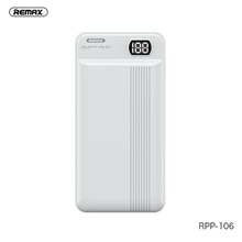 Remax 20000 mAh For Power Bank External Battery 5 V For 2.1 A For Battery Charger with Cable / Automatic Adjusted Current LED White
