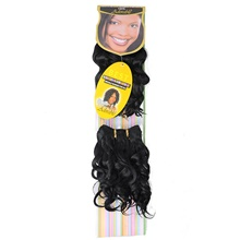 Curly Wavy Costume Accessories Hair Weft with Closure Natural Color Synthetic Hair Braids Braiding Hair 2pcs Black#1B,1 Pack,8 inch