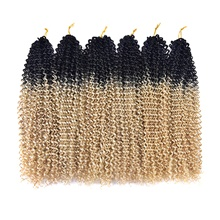 Curly Hair Care Curly Braids Crochet Hair Braids Blonde Synthetic Hair Braids 20 inch Braiding Hair 20 Roots / Pack 1 Piece Blonde,1 Pack,20'