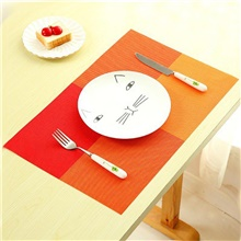 4Pcs Household Fashion PVC Dining Table Placemat Europe Style Home Kitchen Tools Tableware Pad Coaster Coffee Tea Place Mat Orange