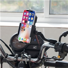 Motorcycle Mobile Phone Holder Cute Cartoon Air Outlet Bracket