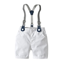 Baby Boys' Basic Solid Colored Overall & Jumpsuit White White,9-12 Months(80cm)