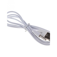3.5mm Audio Plug Jack to USB 2.0 Male Charge Cable Adapter White