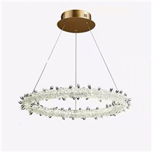 1-Light QIHengZhaoMing 50 cm Pendant Light Metal Crystal Brass Modern 110-120V / 220-240V 110-120V