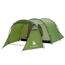 3 person Family Tent Outdoor Windproof Rain Waterproof Camping Tent 2000-3000 mm for Camping / Hiking / Caving Polyester / Viscose 425*200*130 cm