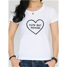 Women's Date Street Basic T-shirt - Solid Colored / Letter White