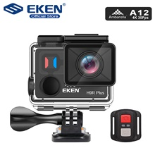 EKEN H9R Plus Action Camera Ultra HD 4K A12 4k/30fps 1080p/60fps for Panasonic 34112 14MP go waterproof wifi sport Cam pro No Card,United Kingdom,Black