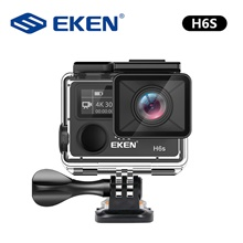 EKEN H6s 4K Ultra HD 14MP with EIS Remote Sport Camcorder Ambarella A12 Chip Wifi 30m Waterproof Panasonic Sensor Action Camera No Card,United Kingdom,Black