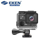 EKEN H5S Plus Action Camera HD 4K 30fps EIS with Ambarella A12 chip inside 30m waterproof 2.0' touch Screen sport camera No Card,United Kingdom,Black