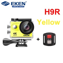 Eken H9R vlogging Back Case / Waterproof Case 64 GB 720P / 1080P / 2160P 12 mp No Recreational Cycling 2 inch 12 MP H.264 Single Shot / Burst Mode / Time-lapse 30 m +1 / -1 / +2 No Card,United Kingdom,Yellow