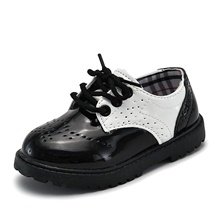 Girls' Comfort Patent Leather Oxfords Little Kids(4-7ys) White / Black Spring White,US5.5 / EU21 / UK4.5 Toddle
