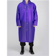 Protective Clothing Anti Dust And Droplet Men's Daily Long Trench Coat, Solid Colored Hooded Long Sleeve Others Purple / Yellow / Blue Purple,US46 / UK46 / EU54