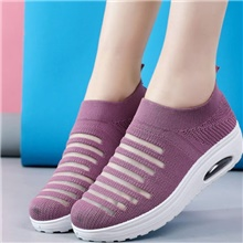 Women's Athletic Shoes Flat Heel Round Toe Mesh Running Shoes Spring & Summer Purple / Red / Black Purple,US5.5 / EU36 / UK3.5 / CN35