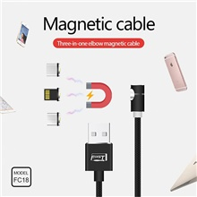 Micro USB / Lightning / Type-C Cable 2 A 1.0m(3Ft) 1 to 3 Canvas USB Cable Adapter For Huawei / Xiaomi / iPhone Micro USB