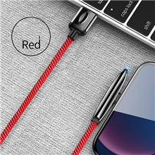 Lightning / Type-C Cable 2 A 1.2m(4Ft) Braided Zinc Alloy USB Cable Adapter For Samsung / Huawei / Xiaomi Type-C,Red,120cm