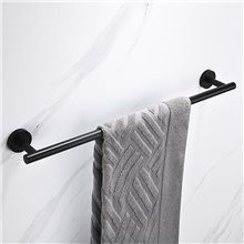 Towel Bar New Design / Creative Antique / Modern Stainless Steel / Low-carbon Steel / Metal 1pc - Bathroom 1-Towel Bar Wall Mounted Matte Black,30cm,Round